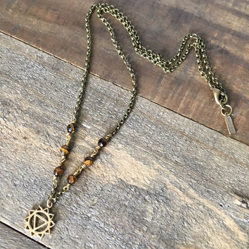Solar Plexus Chakra Gemstone Delicate Necklace