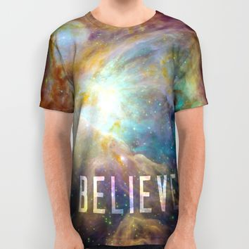 Believe All Over Print Shirt by Historic And Space | Society6