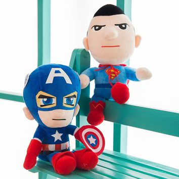 Batman Dark Knight gift Christmas 1pcs Justice League Captain America Batman Superman Soiderman Plush Toy Superhero Stuffed Doll For Kids Children Girls gifts AT_71_6