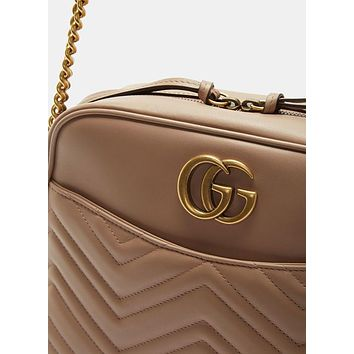 Gucci GG Marmont Matelassé Medium Shoulder Bag
