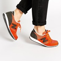New Balance 420 Orange Suede/Mesh Trainers