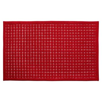 Room Essentials™ Grid Kitchen Rug - Red : Target