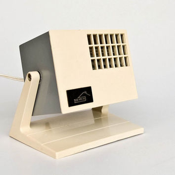 Vintage  Electric Desk Fan / Modernist Square Table Fan / Sever / 70's Yugoslavia