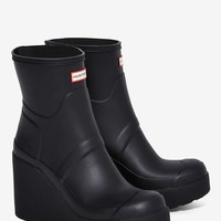Hunter Original Refined Patent Wedge Rain Boot