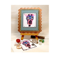 You Know You Want Me, Limited Edition ACEO, Miniature Mixed Media Art, Assemblage Art, Humorous Art