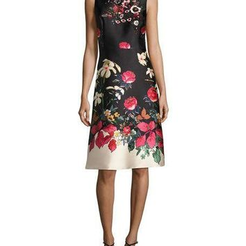 Floral Cocktail Dress by Rickie Freeman