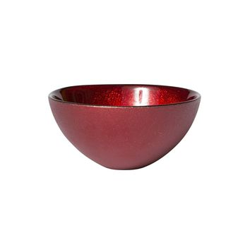 Glitter Glass Red Small Bowl