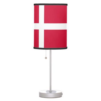 Patriotic table lamp with Flag of Denmark