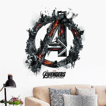 avengers age of ultron movie wall sticker kids bedroom decoration 1456 adesivo de paredes diy print mural art home decal poster