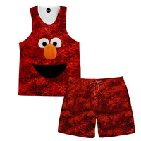 Elmo Tank and Shorts Rave Outfit