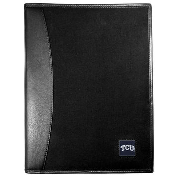 TCU Horned Frogs Leather and Canvas Padfolio CPAD112
