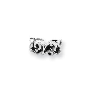 Sterling Silver Scroll Connector Bead Charm