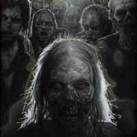 The Walking Dead Struzan Zombies TV Poster Print - 24x36 custom fit with RichAndFramous Black 24 in