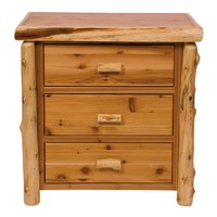 Contemporary Cedar Three Drawer Chest