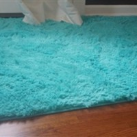 College Plush Rug - Mykonos Sea