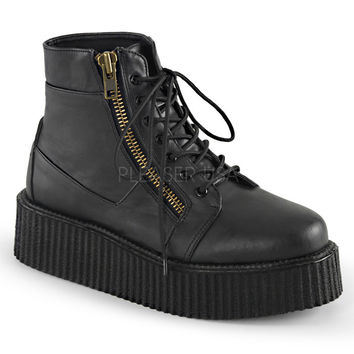 Demonia Black Two Inch Creeper Boots