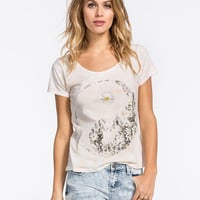 Full Tilt Tie Dye Daisy Yin Yang Womens Tee Multi  In Sizes