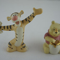 Lenox Salt & Pepper Shaker Disney Winnie the Pooh & Tigger Limited Edition