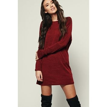 What's New Basic Dress (Burgundy)
