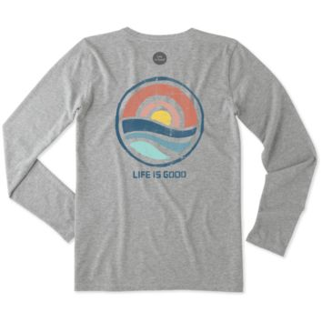 Women's Color Block Sunrise Long Sleeve Crusher Tee