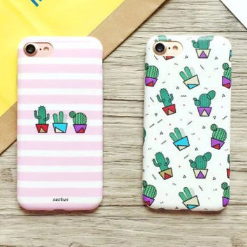 High-quality Nanometer Protect Original Cactus Cover for iPhone 7 7Plus & iPhone 6 6s Plus & iPhone 5s se Case +Gift Box-E02
