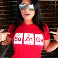 BaZnGa T-Shirt Funny Science Chemistry Periodic Table Elements Geekery Geek Nerd Gift Humor T-Shirt Tee Shirt Tshirt Mens Womens Kids S-5Xl