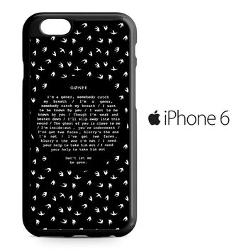 Twenty One Pilots Goner iPhone 6 Case