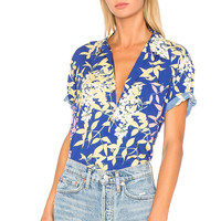DOUBLE RAINBOUU Hawaiian Shirt in Cherry Pop | REVOLVE