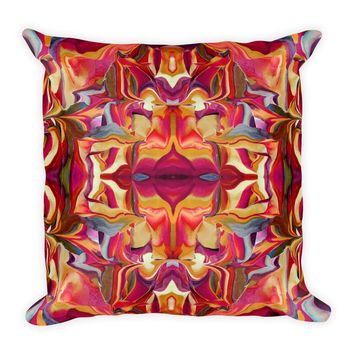 House of Mirrors Square Pillow by Leah Quinn Design