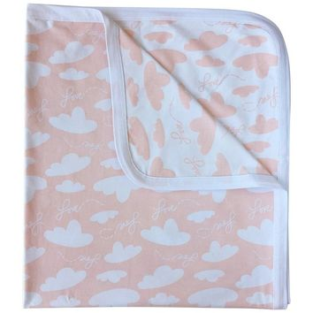 Pink Bamboo Baby Blanket - Love is in the Air Collection