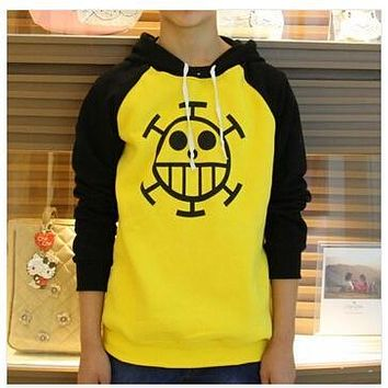 Hot sale Anime One Piece Trafalgar Law Sweatshirt Death Surgeon Hoodie Jacket coat Cosplay Costumes