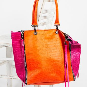 Free People Bright Lights Leather Tote