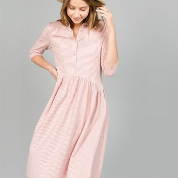 Kylie 3/4 Sleeve Nursing Friendly Dress