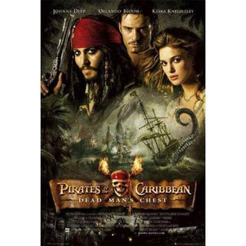 PIRATES OF THE CARIBBEAN POSTER -DEAD MAN'S CHEST GROUP