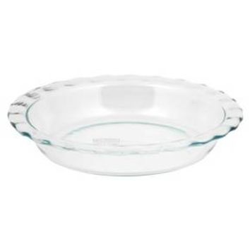 "Pyrex Grip Rite 9.5"" Glass Pie Pan - Clear : Target"
