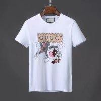 Gucci 2018ss Spring and Summer men's new short sleeve,G home cute cat catch mice  printing money p60