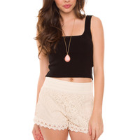 Mirakel Knit Crop Top - Black