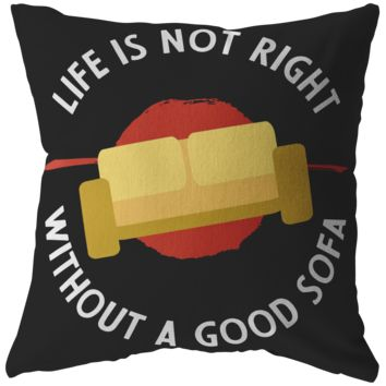 Life Isn't Right Without A Good Sofa Pillow