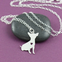Chihuahua Silver Necklace