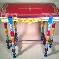 EcoVolveNow Hand Painted Furniture- Side Table or Accent Table