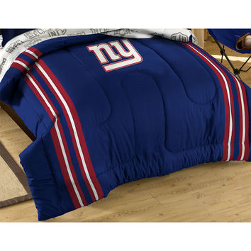 New York Giants Football Striped Twin-Full Bed Comforter Set