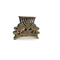 Jewish symbols true vintage solid brass napkin holder