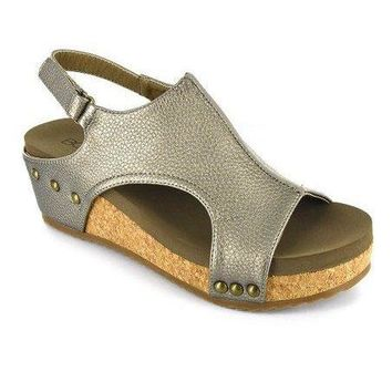 Volta Wedge In Pewter By Corkys