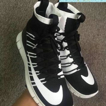 Cheap Priced 2018 Nike Free Flyknit Mercurial Superfly SP HTM Black White Black shoes