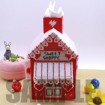 3D Cross Stitch Pattern House (Pattern ONLY) Instant Download pdf Design 1