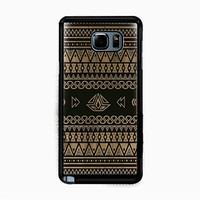 Geometric Aztec Pattern on Wood for Samsung Galaxy Note 5 Case *NP*
