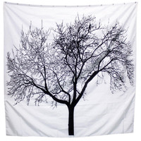 B/W Treesque Shower Curtain
