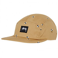 Stussy: Mini Check Camp Cap - Khaki