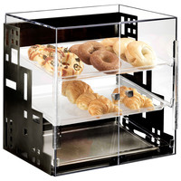 18.875W x 16D x 19H Squared Bakery Display Case Black