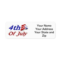 4th of July Star & Stripes 3D Labels